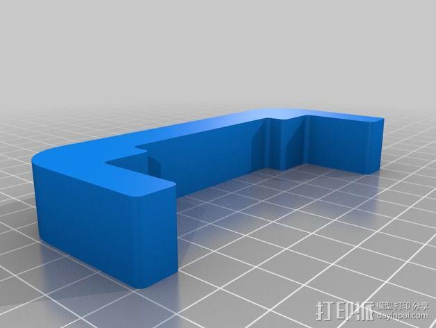 双挤出机调平工具 3D模型  图1