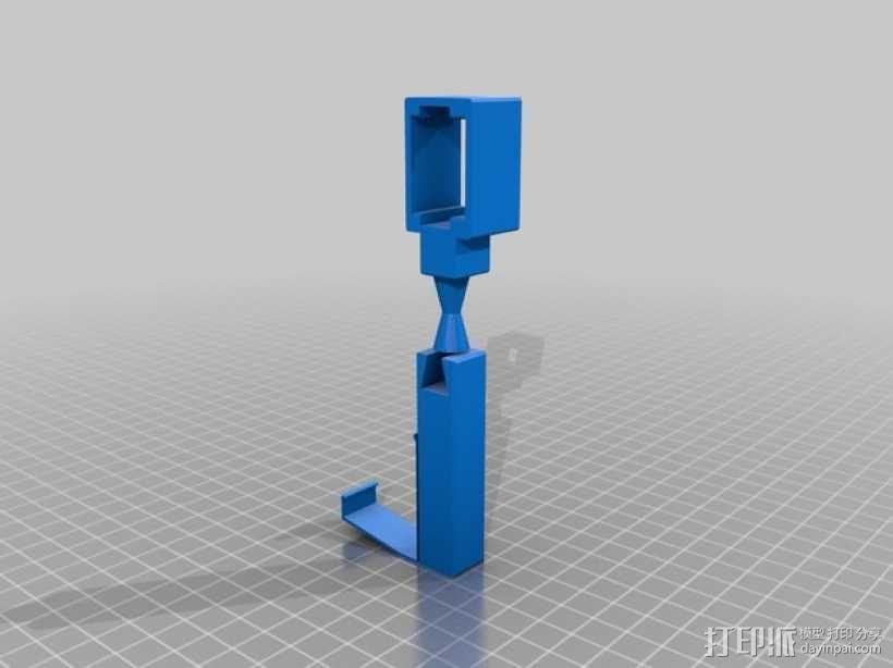 摄像头固定器 3D模型  图1