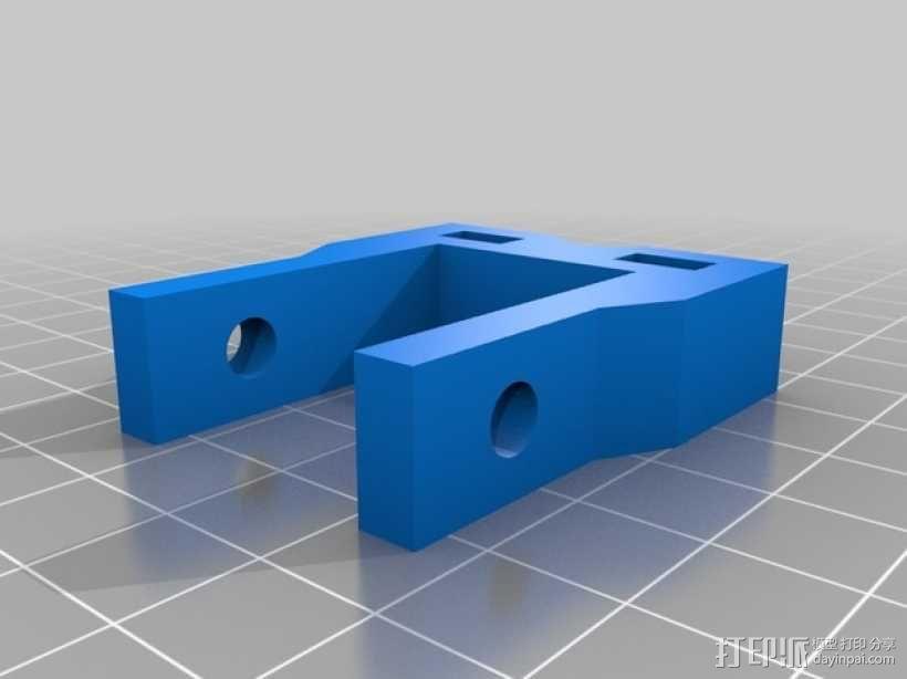 K8200打印机Z轴的轴承夹 3D模型  图2