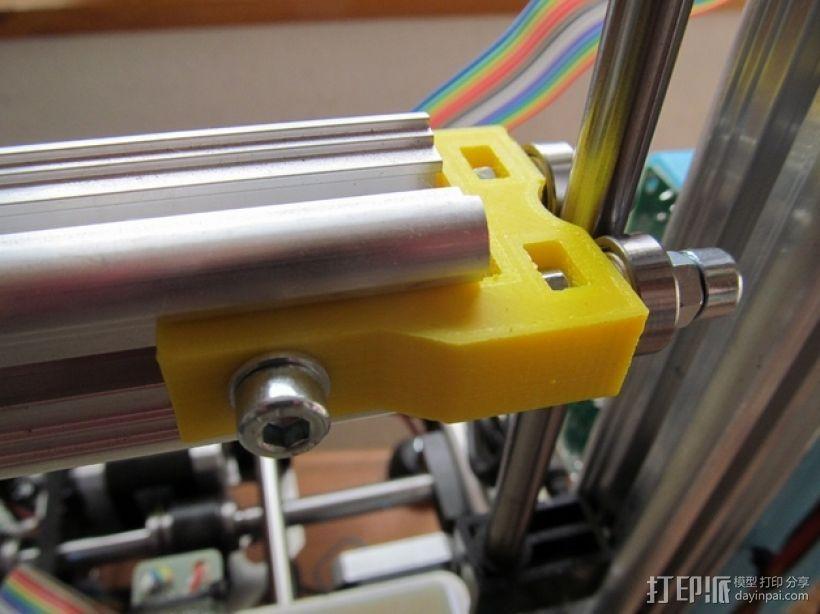 K8200打印机Z轴的轴承夹 3D模型  图3