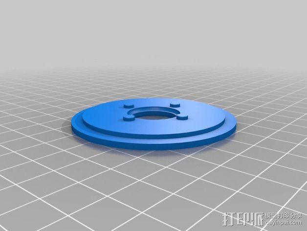 52毫米的线轴 3D模型  图3