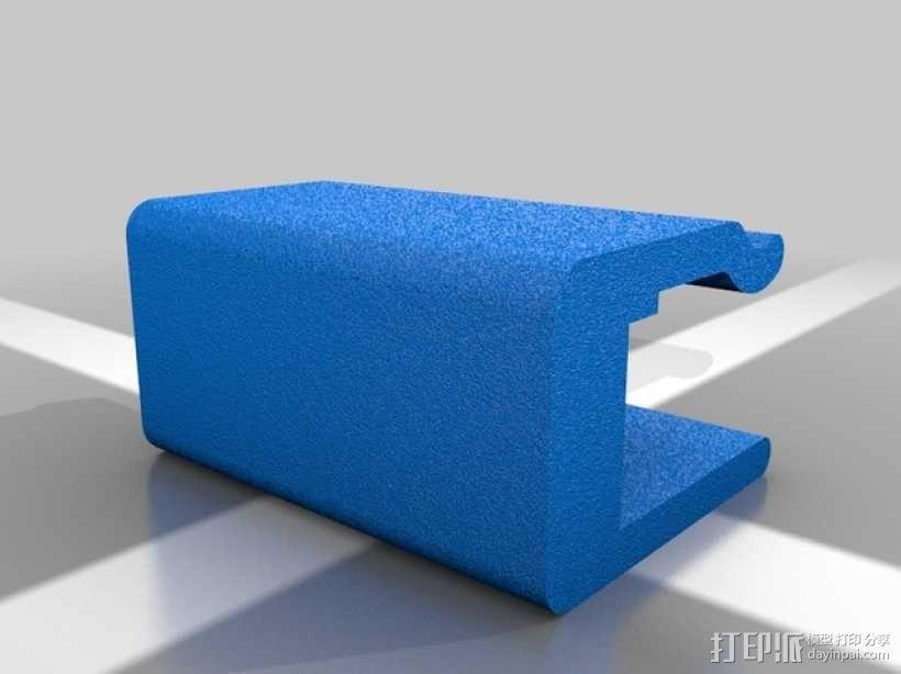 Makerbot 2X 打印机的玻璃板固定夹 3D模型  图1