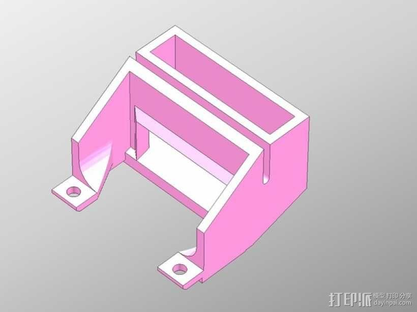 PP3DP Up Plus 打印机的换气扇 3D模型  图1