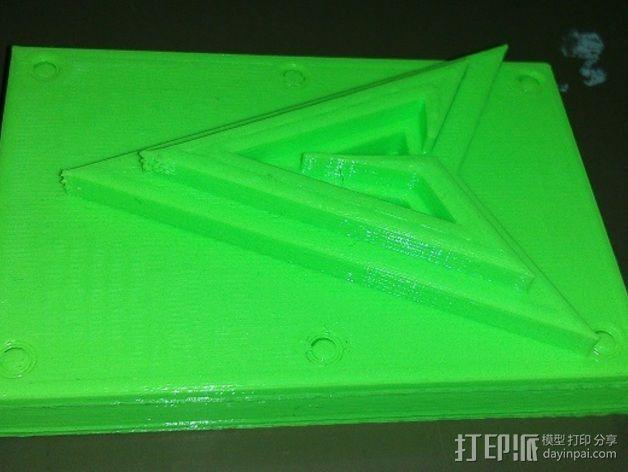绿箭头皮带搭扣 3D模型  图5