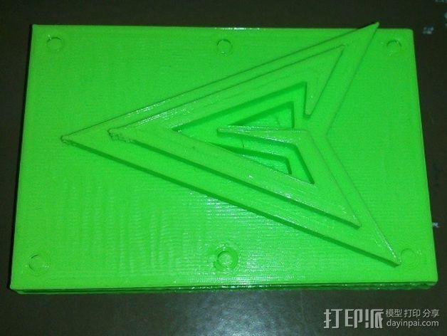 绿箭头皮带搭扣 3D模型  图6