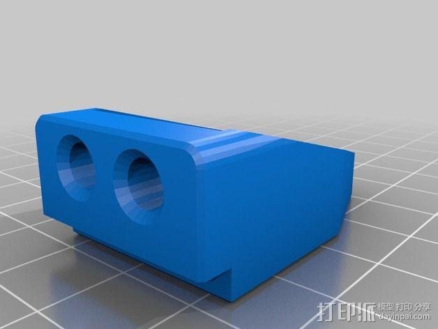 X轴的惰轮支架 3D模型  图2