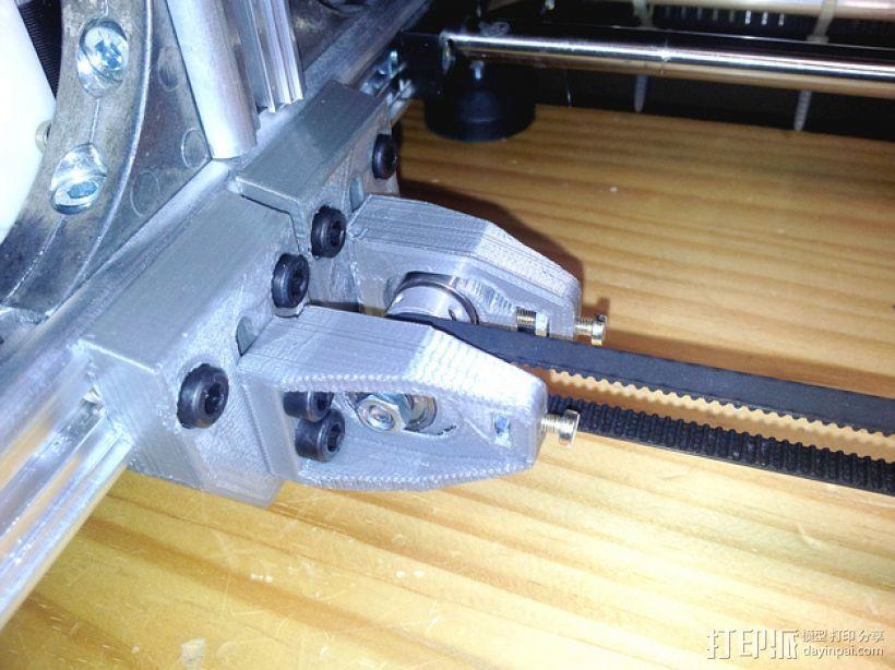 X轴的惰轮支架 3D模型  图1