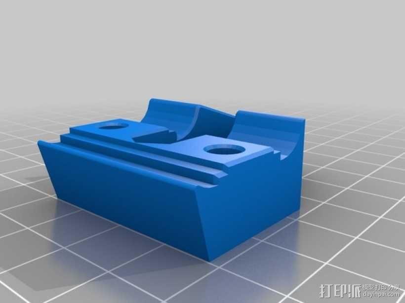 X轴的惰轮支架 3D模型  图5