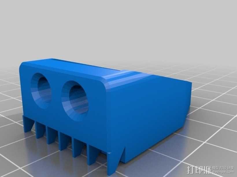 X轴的惰轮支架 3D模型  图4