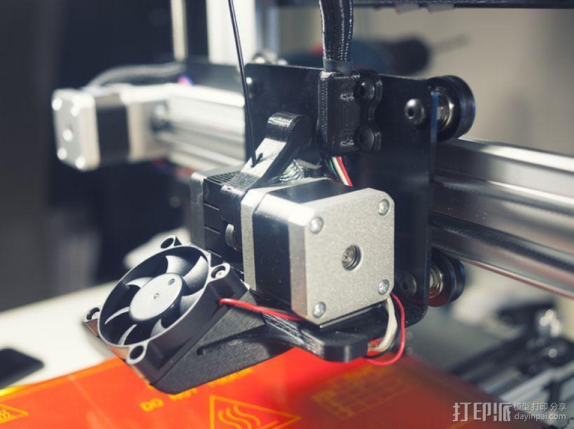 50毫米的风扇通风导管 3D模型  图1