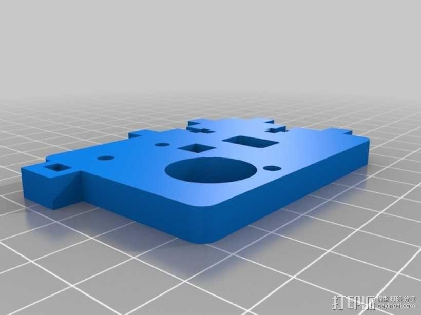 Printrbot打印机的挤出机支架 3D模型  图2
