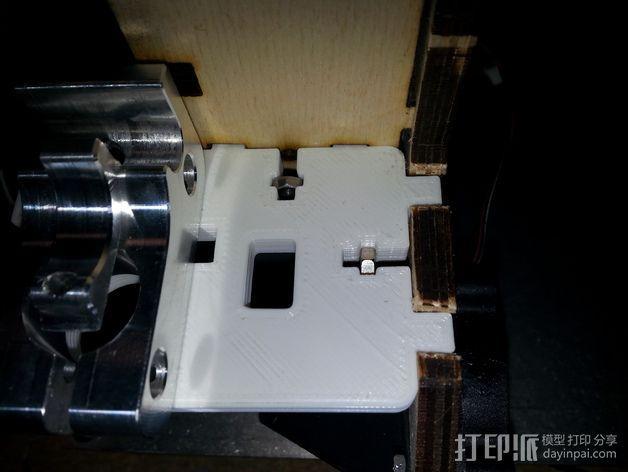 Printrbot打印机的挤出机支架 3D模型  图3