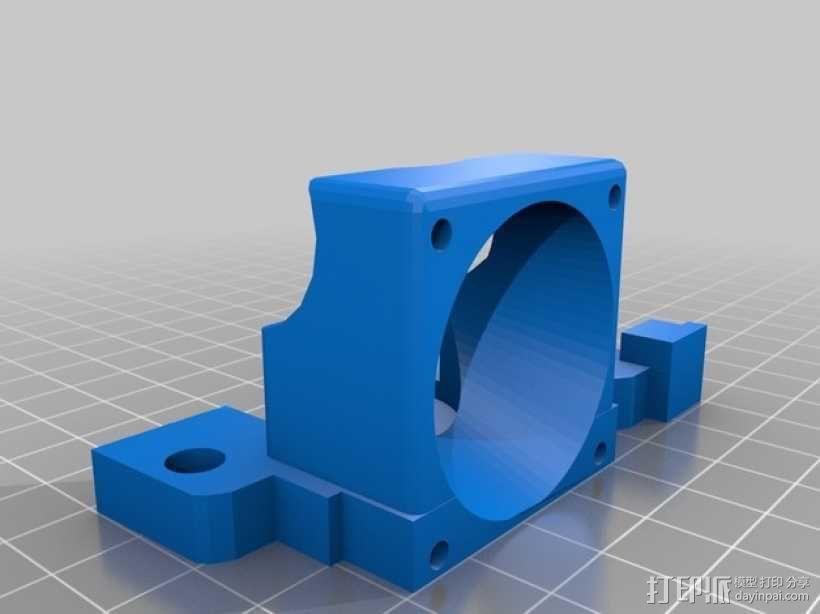 e3d喷头的风扇 3D模型  图1