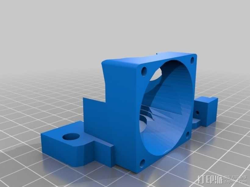 e3d喷头的风扇 3D模型  图3