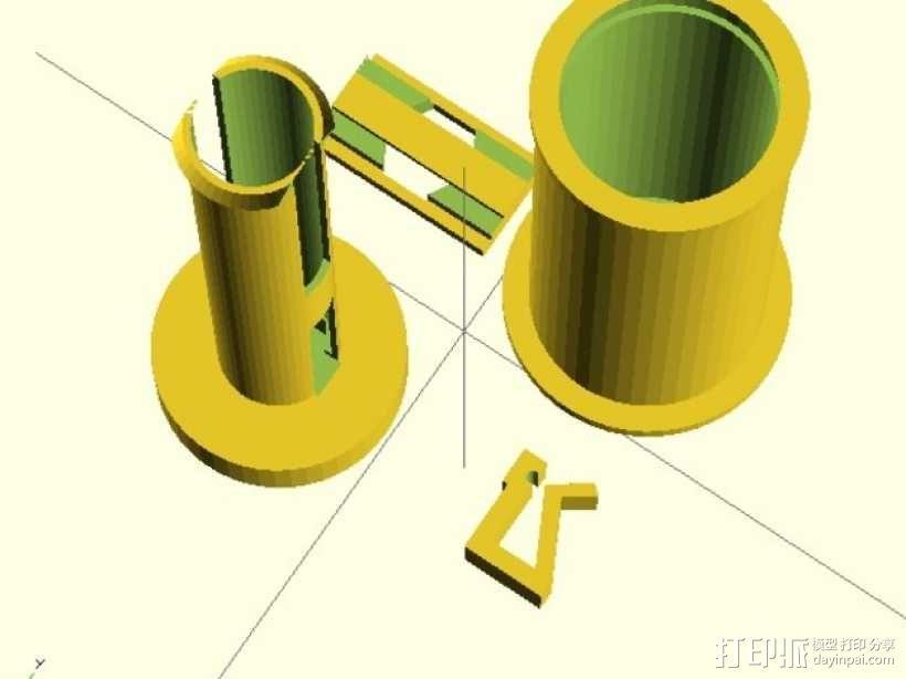 线卷支架和线材夹 3D模型  图1