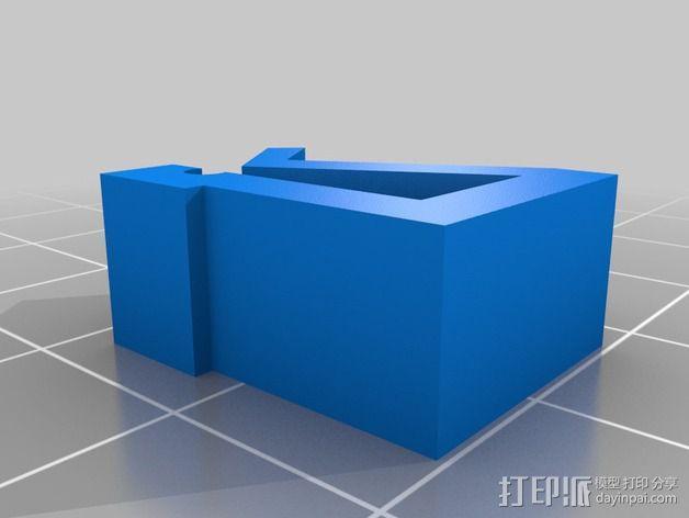 线卷支架和线材夹 3D模型  图2