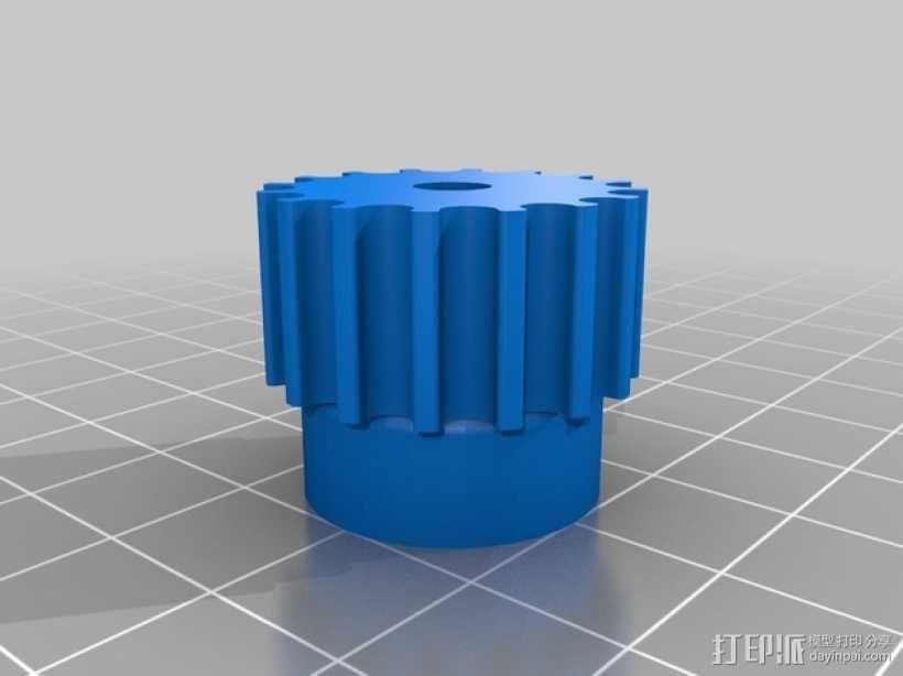 滑轮 3D模型  图1