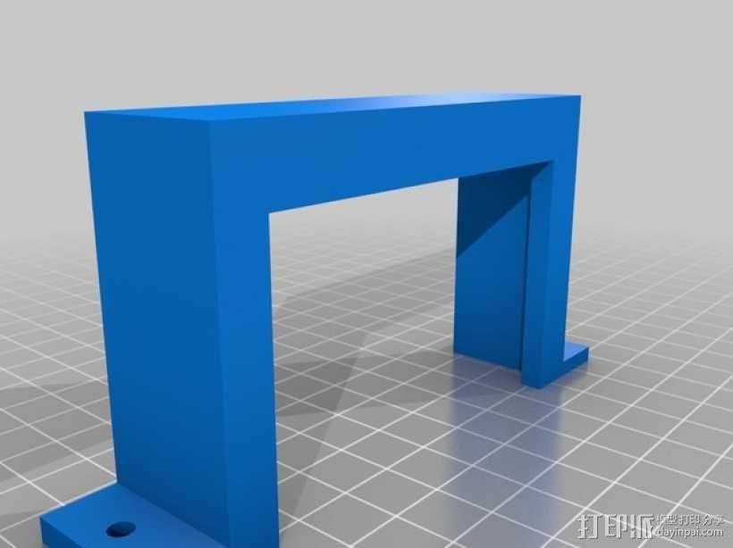 电源支撑架 3D模型  图2