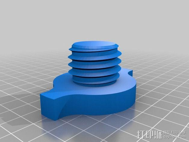 Replicator 2/2X打印机的线轴支架 3D模型  图2