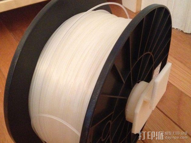 Replicator 2/2X打印机的线轴支架 3D模型  图4