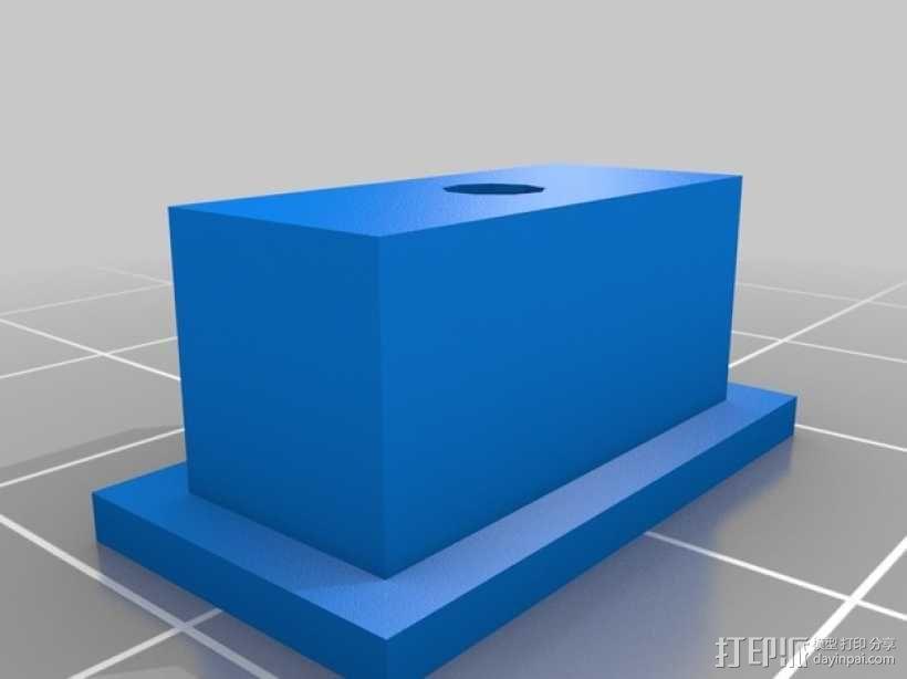 线材固定器 导线孔 3D模型  图2