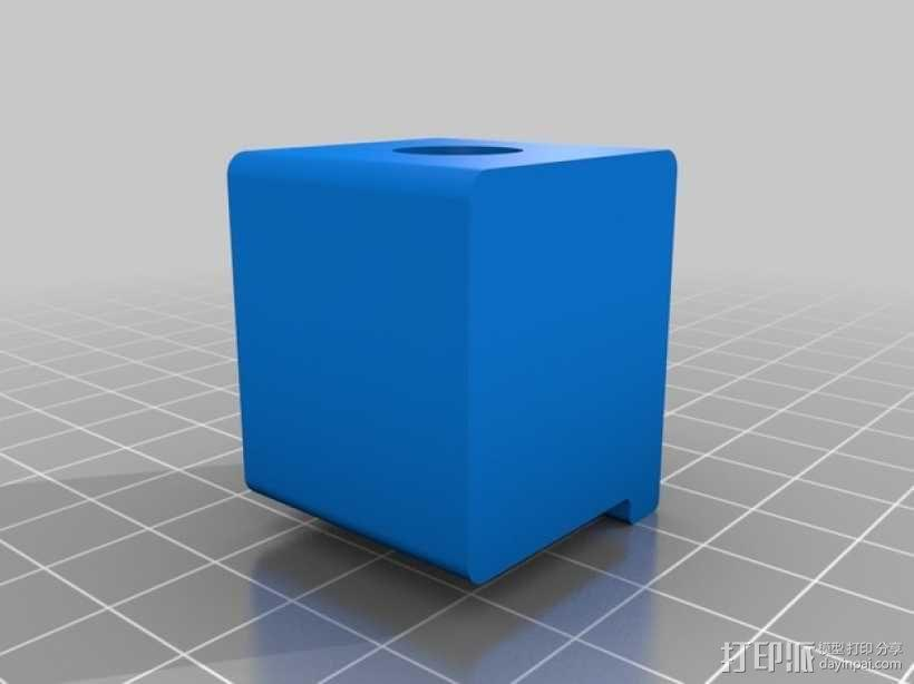 Makerbot Replicator 2打印机的SD卡收纳器 3D模型  图2