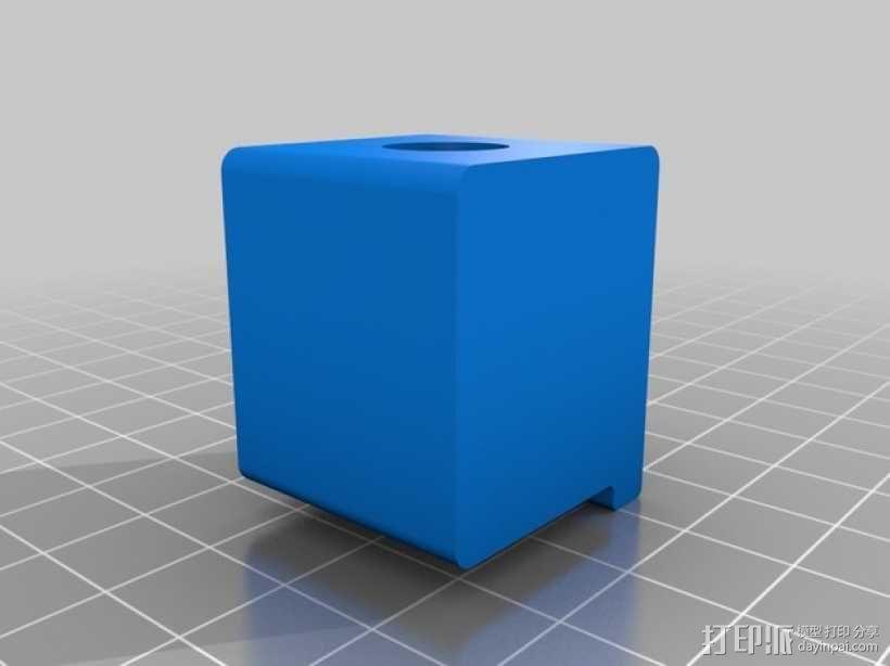 Makerbot Replicator 2打印机的SD卡收纳器 3D模型  图4