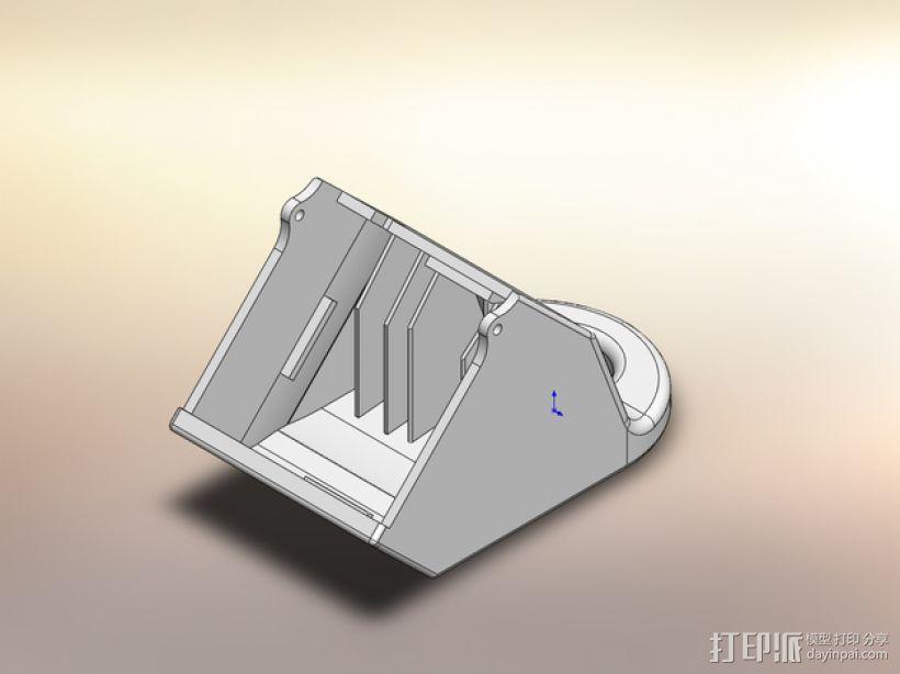 PRINTRBOT PLUS 2.1打印机的风扇导管 3D模型  图1