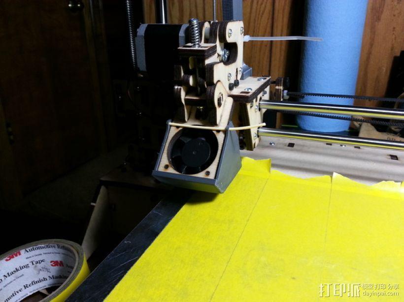 PRINTRBOT PLUS 2.1打印机的风扇导管 3D模型  图8