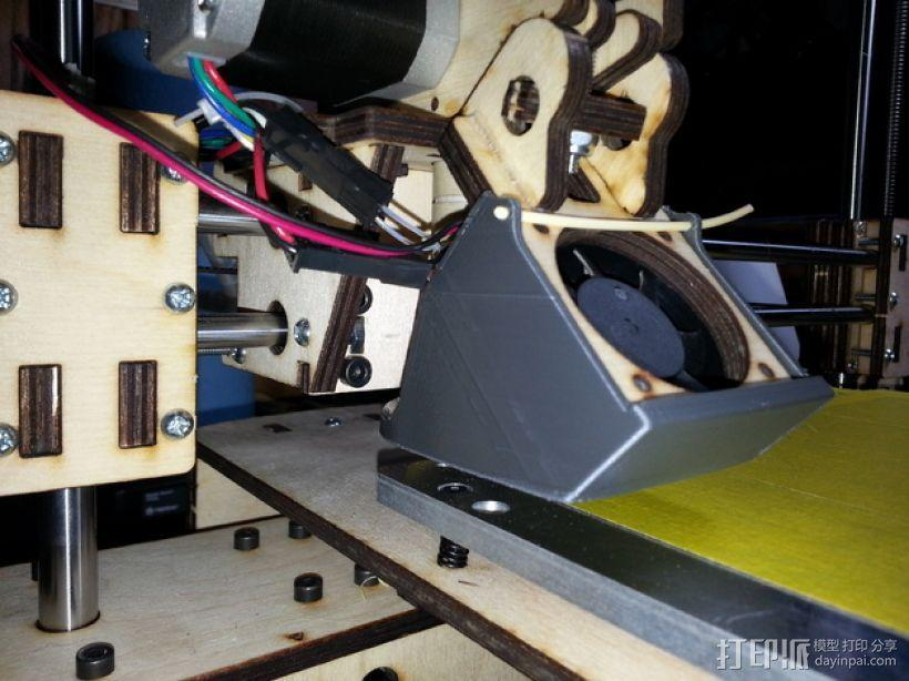 PRINTRBOT PLUS 2.1打印机的风扇导管 3D模型  图9