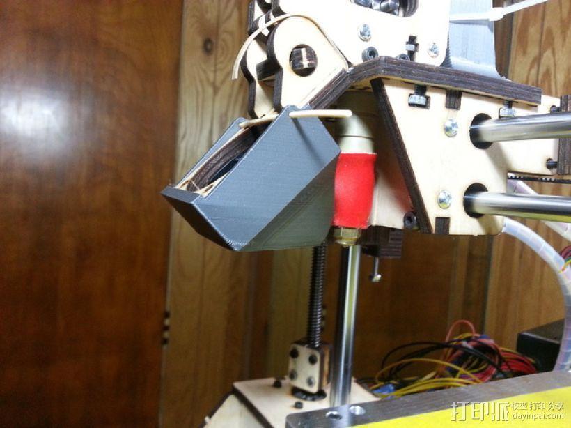 PRINTRBOT PLUS 2.1打印机的风扇导管 3D模型  图14