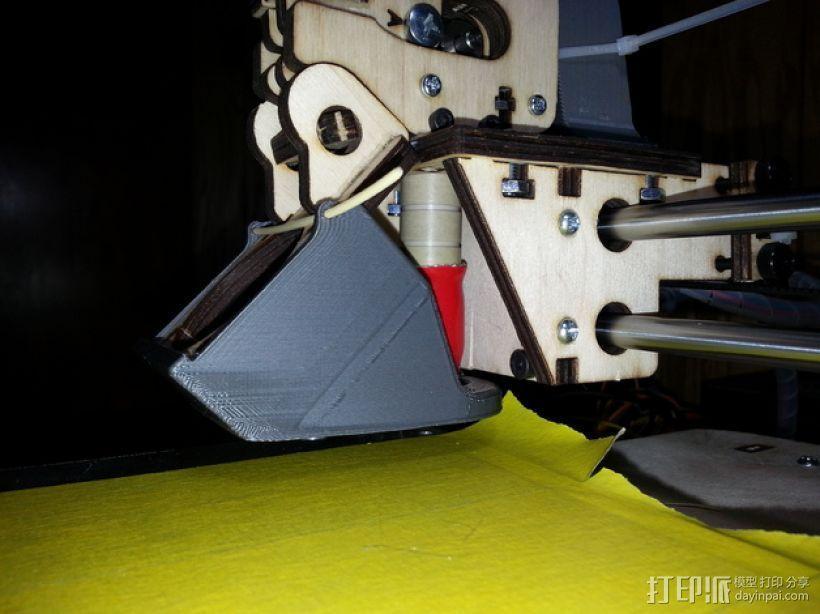 PRINTRBOT PLUS 2.1打印机的风扇导管 3D模型  图11
