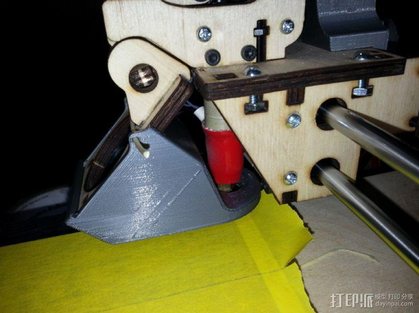 PRINTRBOT PLUS 2.1打印机的风扇导管 3D模型  图12