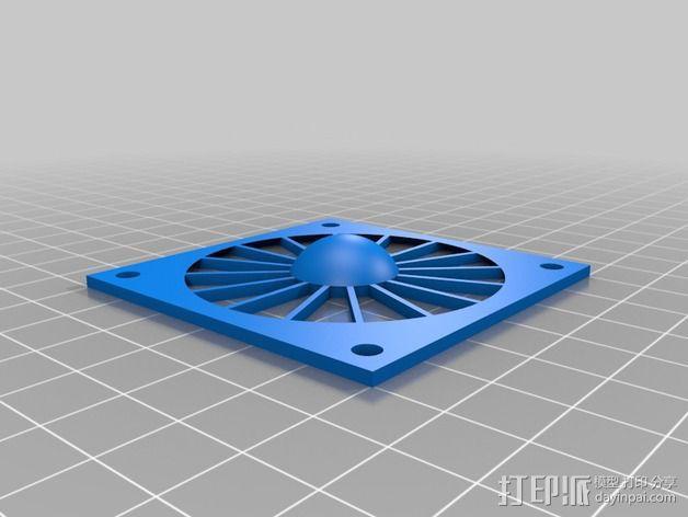 60毫米的风扇罩 3D模型  图2
