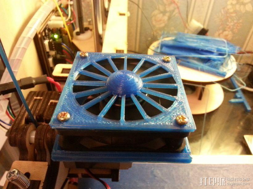 60毫米的风扇罩 3D模型  图1