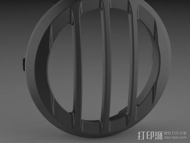 吉普车灯罩 3D模型  图1