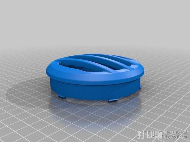 吉普车灯罩 3D模型  图2