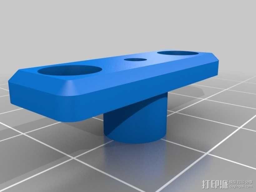 Ultimaker打印机的铝制加热床 3D模型  图2