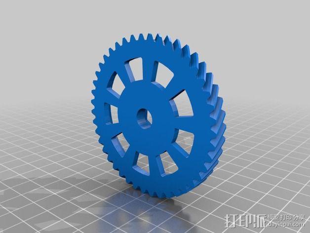 K8200 Velleman 打印机的挤出机斜齿轮 3D模型  图2