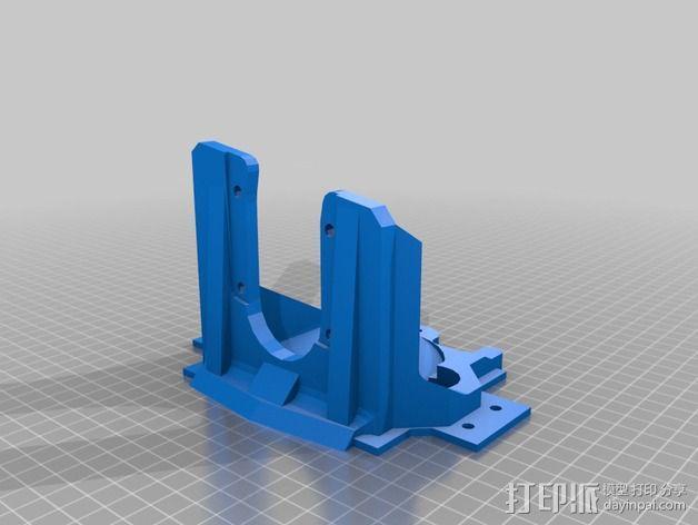 双挤出机支架 3D模型  图2
