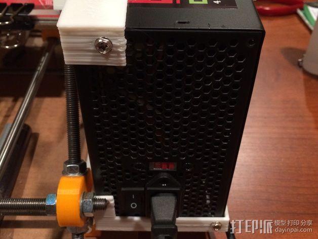 电源支撑框 支撑器 3D模型  图4