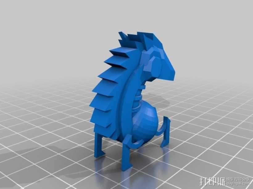 骑士棋子 3D模型  图1