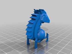 骑士棋子 3D模型