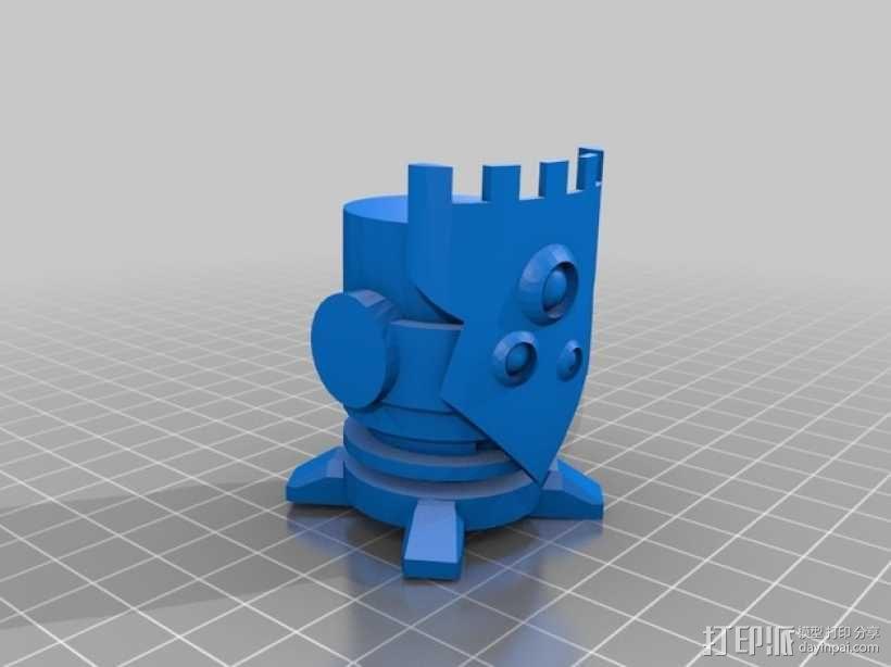 棋子 城堡 车 3D模型  图1