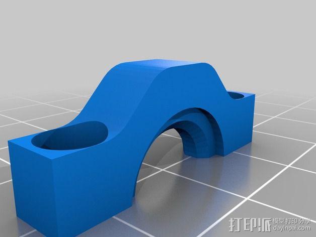 步进马达挤出机 3D模型  图3