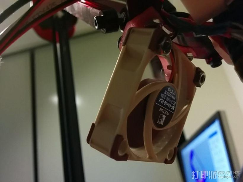 40毫米的风扇支架 3D模型  图1