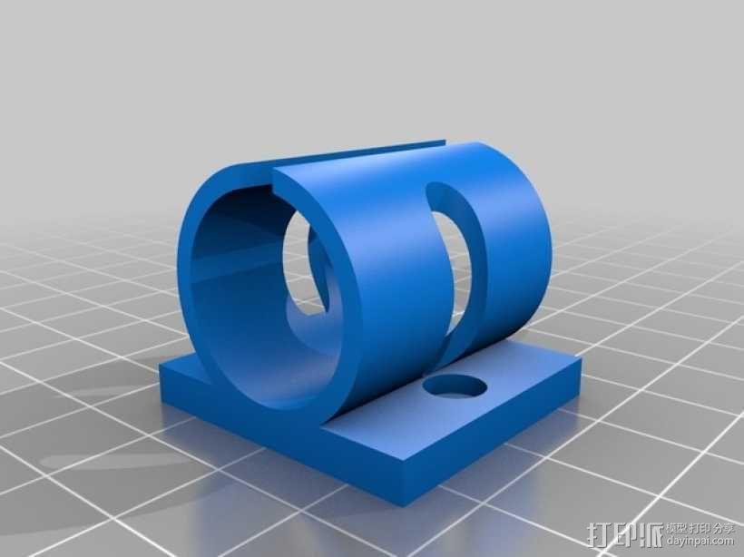Prusa i3打印机Y轴轴承支架 3D模型  图1
