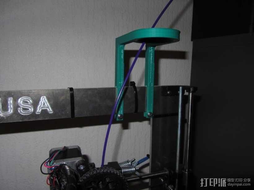 Prusa i3打印机的导线器 3D模型  图2