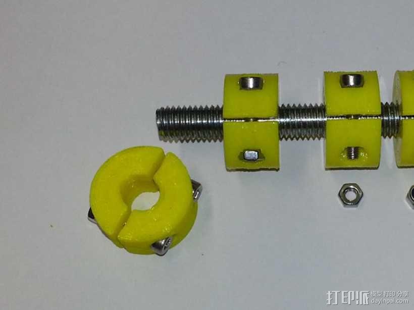 锁环 压圈 夹紧环 3D模型  图3