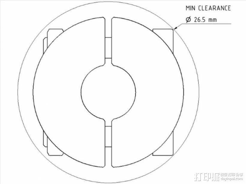 锁环 压圈 夹紧环 3D模型  图2